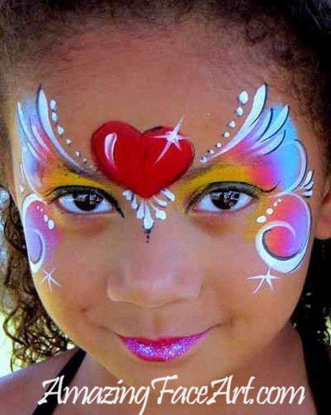 rainbow heart face painting West Hartford CT