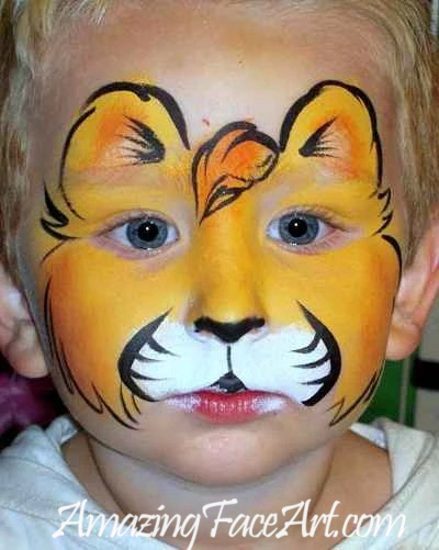 lion cub face painting for boys CT