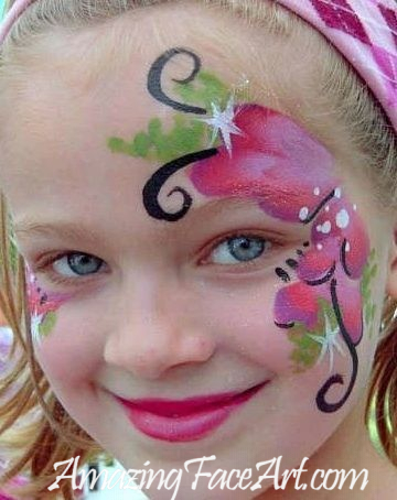 flower face painting CT