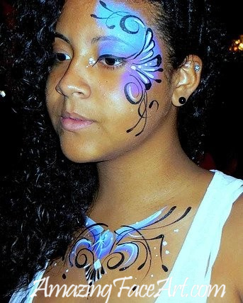eue design face painting for teenagers