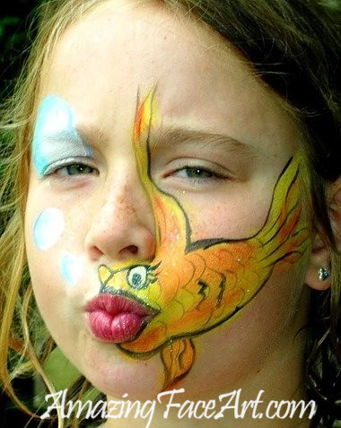 gold fish face painting CT