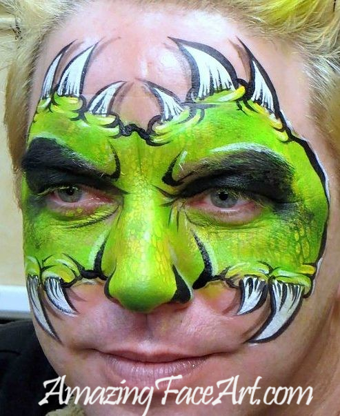 dragon face painting CT