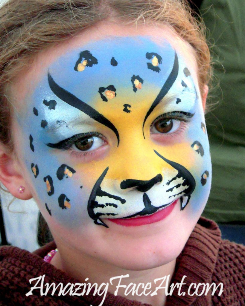 cheetah face painting CT