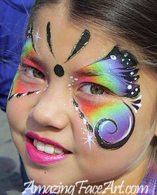 097 - Rainbow Butterfly Face Painting