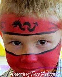 101 - Ninja Face Painting