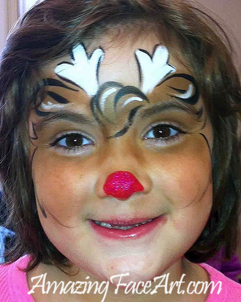102 - Raindeer Face Painting (BIG)