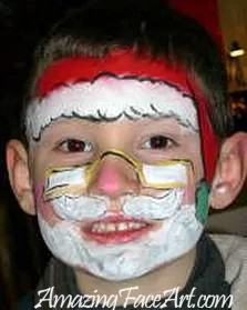 104 - Santa Claus Face Painting