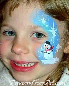 106 - Snowman Face Painting