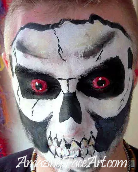 121 - Skull Face Painting (BIG)