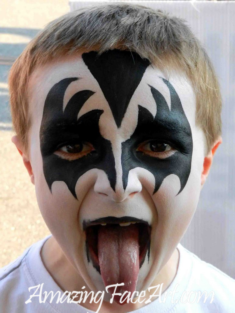 kiss band face painting
