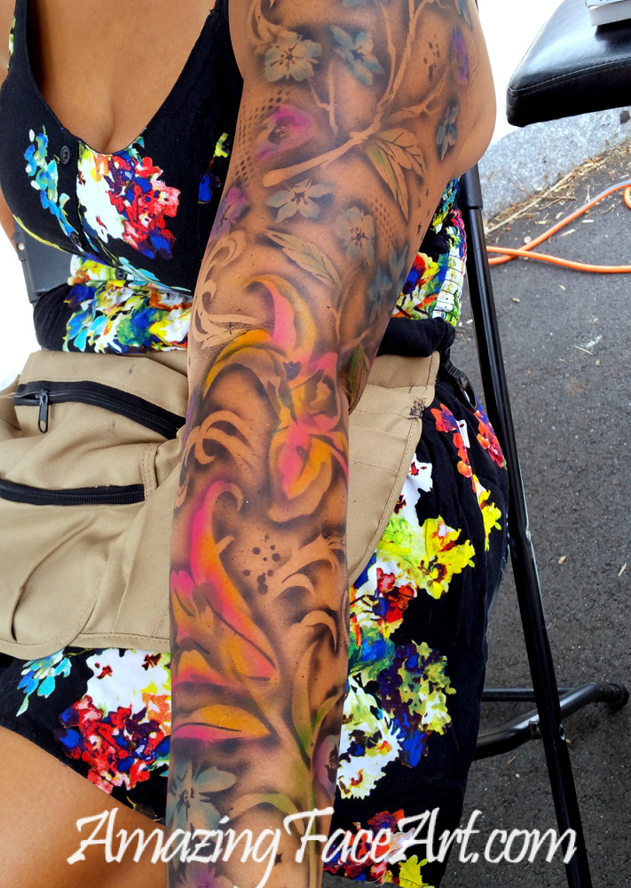 066a11df4 Airbrush Tattoos | Amazing Face Art