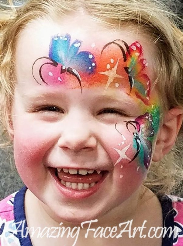 butterfly face painting for parties CT