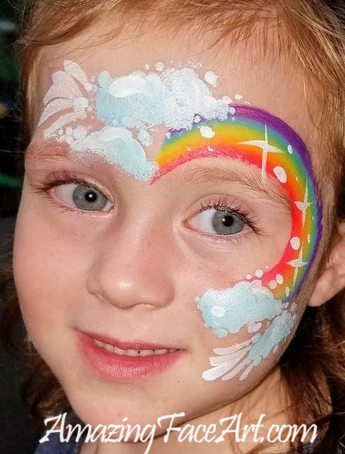 rainbow face painting in CT