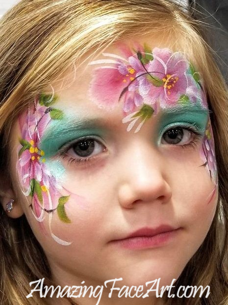 flowers face painter