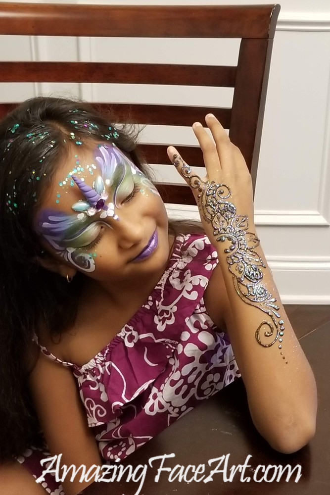 face painting and henna for parties CT