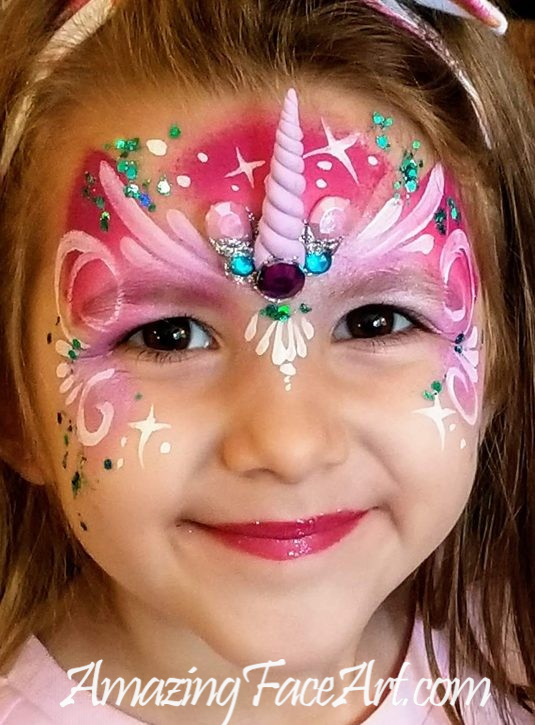 pink unicorn face painting West Hartford CT