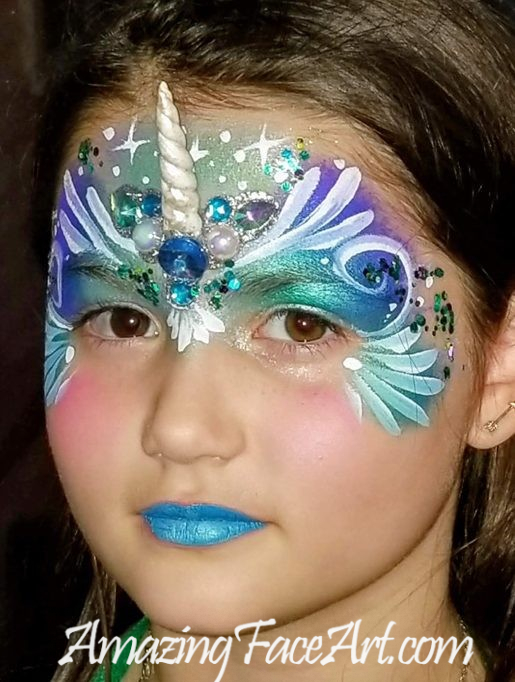 unicorn face painting in CT