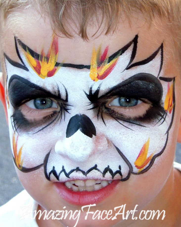 flaming skull face painters in CT