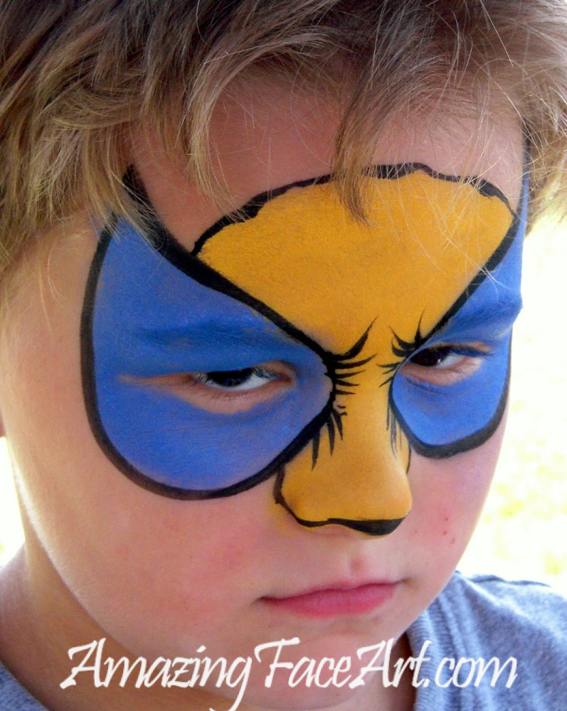 Wolverine face painting in west hartofrd